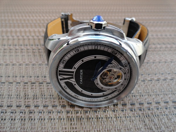 Calibre de Cartier Replique montre Vue laterale