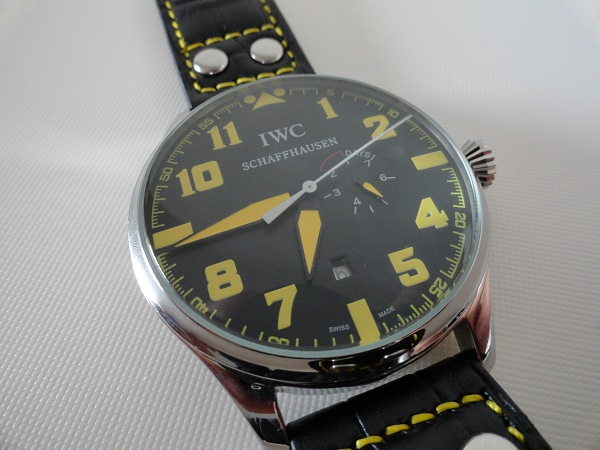 IWC Pilot Top Gun jaune replique montre