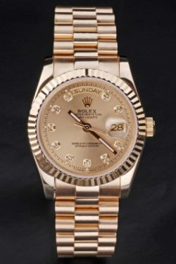 Rolex Day-Date en or jaune diamants replique montre