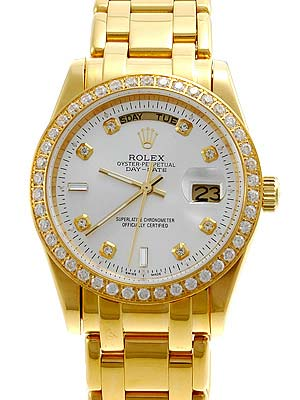 Rolex Day-Date en or jaune diamants blancs Dial Replique
