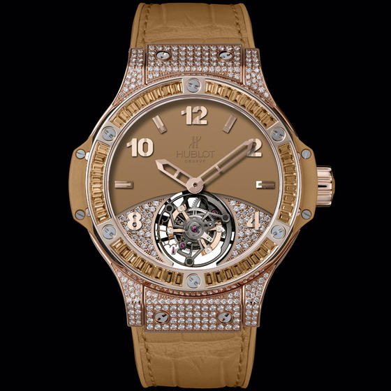 Hublot Big Bang Tutti Frutti Tourbillon Camel Pavé