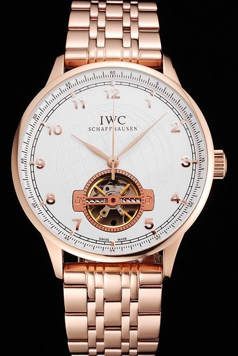 Pas Cher IWC Portugieser Tourbillon Replique En Or Rose