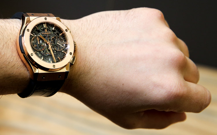 Hublot Classic Fusion Chrono Aero King Gold