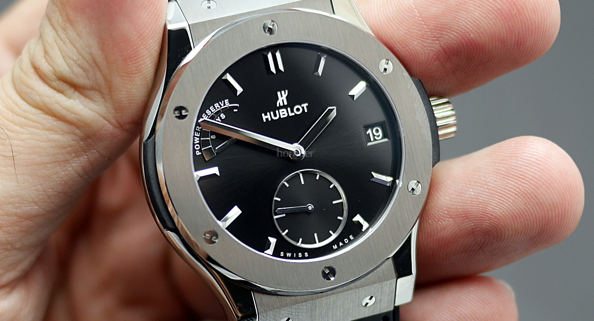 Hublot Classic Fusion 8-Day Power Reserve Titanium watch