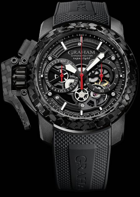 Graham Chronofighter Superlight Carbon Skeleton : 100g au poignet
