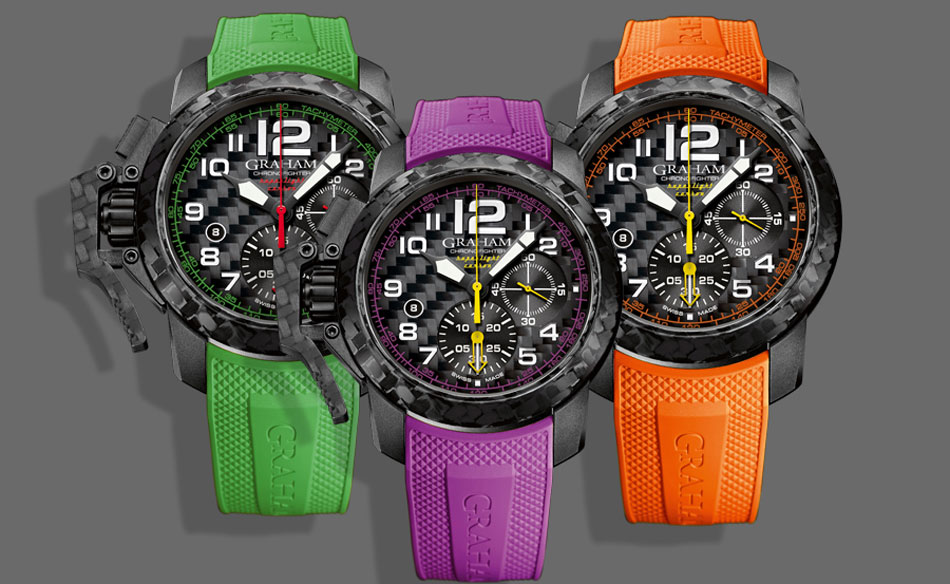 Graham Chronofighter Superlight Carbon : de la couleur !
